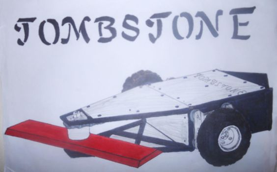 Battlebots-ABC season 2 Tombstone with red blade. by sgtjack2016