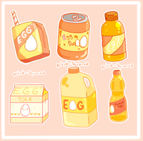 Egg Drinks by Artist-squared