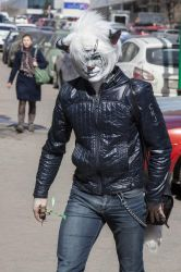 Gabriel. The Snow Leopard. At the street. by Kittenboy