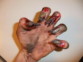 Zombie fingernails by GargamelsCat