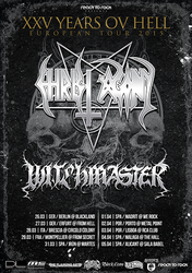 Witchmaster/Christ Agony Tour poster by BlackTeamMedia
