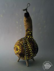 Gourd Lamp by Clayofmyclay