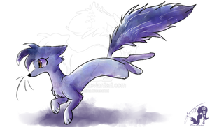 Water Color Weasel by JB-Pawstep