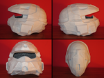PROP MAKING - Halo 3 Rogue Helmet 03 by VR-Robotica