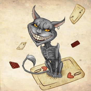 Cheshire cat by Tabia