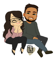 That Bubbly Asian Chibi Couple commission by temporaryWizard