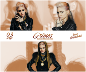 Pack PNG #02 - Grimes by xPEGASVS