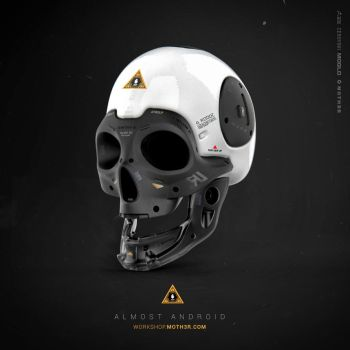 Almost Human - Skull by moth3R