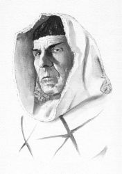 Leonard Nimoy SPOCK sketch by JohnHaunLE