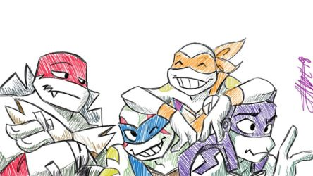 Rise TMNT sketch by bugsytrex