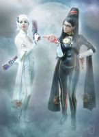 Bayonetta and Jeanne by SandySuicide