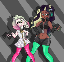splatoon 2 pearl and marina by luisa1235