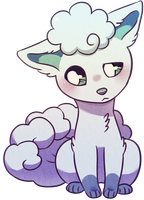 It's like a Vulpix but with ice by Flavia-Elric