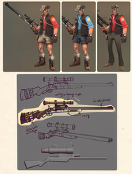 Sniper Shorts set concept by ChemicalAlia