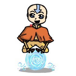 Aang the Airbender by Fyreglyphs