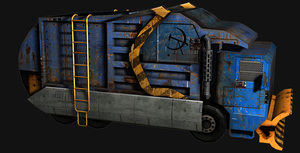 Post Apocalyptic Garbage Truck by SniperWolf87