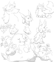 a buncho doodles by chuchi-lo