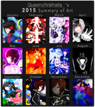 2015 Summary of Art by queen-val