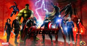 Avengers Assemble. Age of Ultron line Up! by Cag3dRav3n