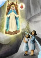 Aparition of Our Lady in Brazil by artelizdesouza