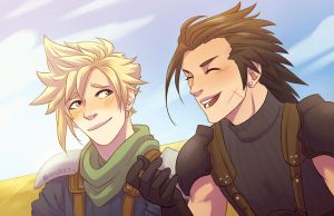 FF7 - Happy Days by midgaardian