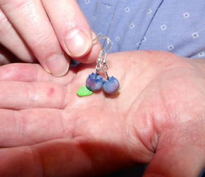 Blueberry Earrings by MadMother88