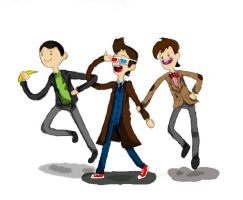 The three Doctors again, this time in better color by hi5231