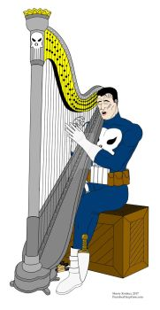 The Punisher On Break form the War by OwossoHarpist