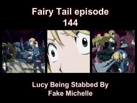 Lucy being stabbed by Michelle.. by LilyRose98