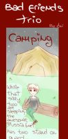 :APH: Bad Friends Trio camping by AniDarkSugaR