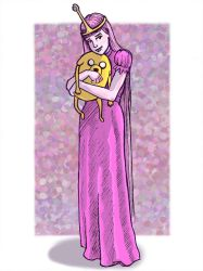 Princess Bubblegum and Jake (Adventure Time) by Spencey