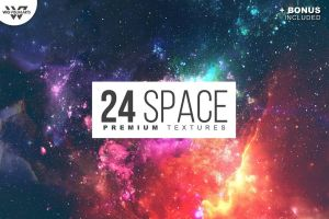 24 SPACE Premium Textures Pack by GraphicAssets