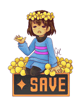 SAVE (Undertale) by CairolingH