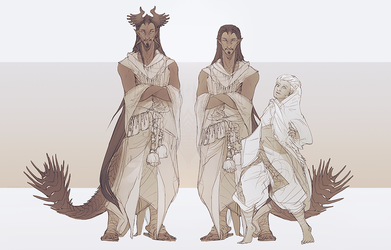 Siamun and his wife | sketches by SunDier