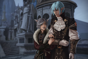 It's not snowing in Ishgard by Inkary
