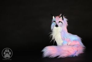 SOLD Pastel Wolf commission poseable artdoll OOAK by CreaturesofNat