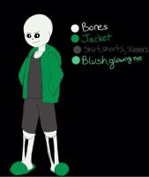 My new OC reference! (Done by CheerfulBlossom) by UndertalePeasant