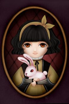 Portrait of Girl with Rabbit by maye6