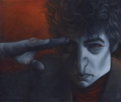 bob dylan by carloscartoons