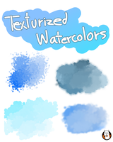 Texturized watercolors for FIREALPACA by Angelceleste