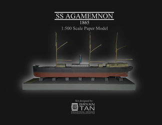 Steam Clipper Agamemnon - Paper model kit by RocketmanTan