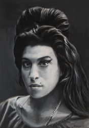 Amy in grey Gouache by spoof-or-not-spoof