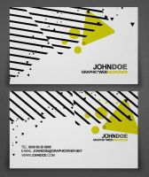 Abstract Design Business Card by Katro16