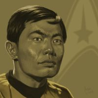 Star Trek TOS portrait series 04 - Sulu - Takei by jadamfox