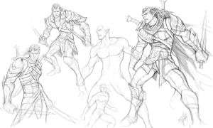 Rough sketch - Male Reaper by engkit