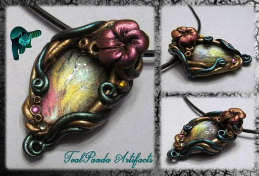 Nature Amulet Rose Plumeria by TealpandaArtifacts