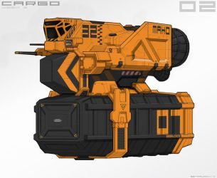 Cargo spaceship sketch by BenMauro