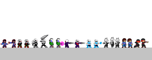 all sans and Human's sprite custom lsw by Neverarts2711