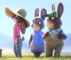 Judy Hopps with her mom and dad by MrAcrizzy