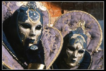 Golden and Violet masks by multix